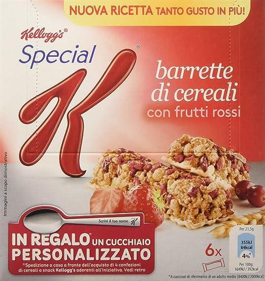 14 opinioni per Kellogg's- Barrette di cereali, con Frutti Rossi- 6 pacchetti