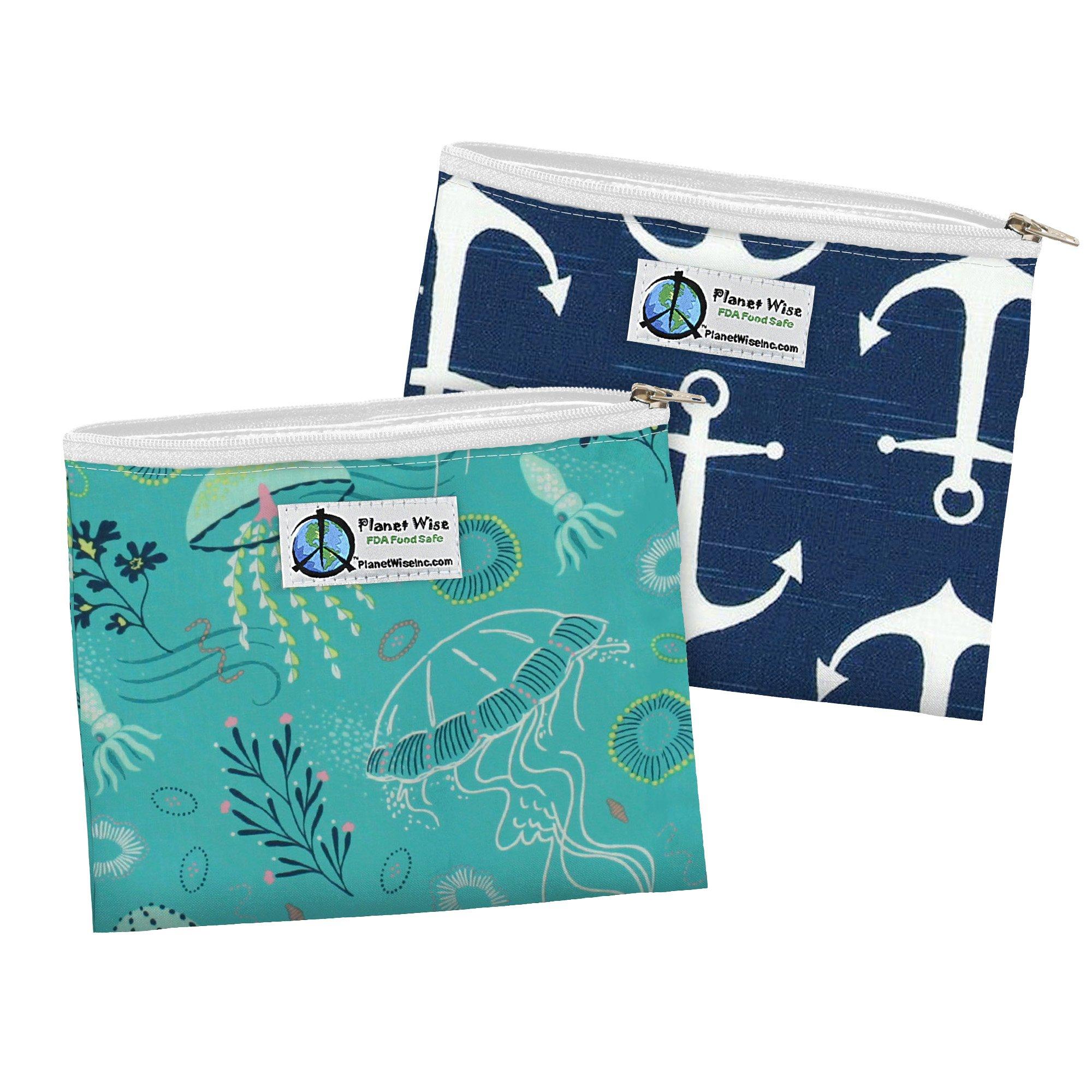 Planet Wise Zipper Sandwich Bags, 2-Pack, Jelly Jubilee/Overboard