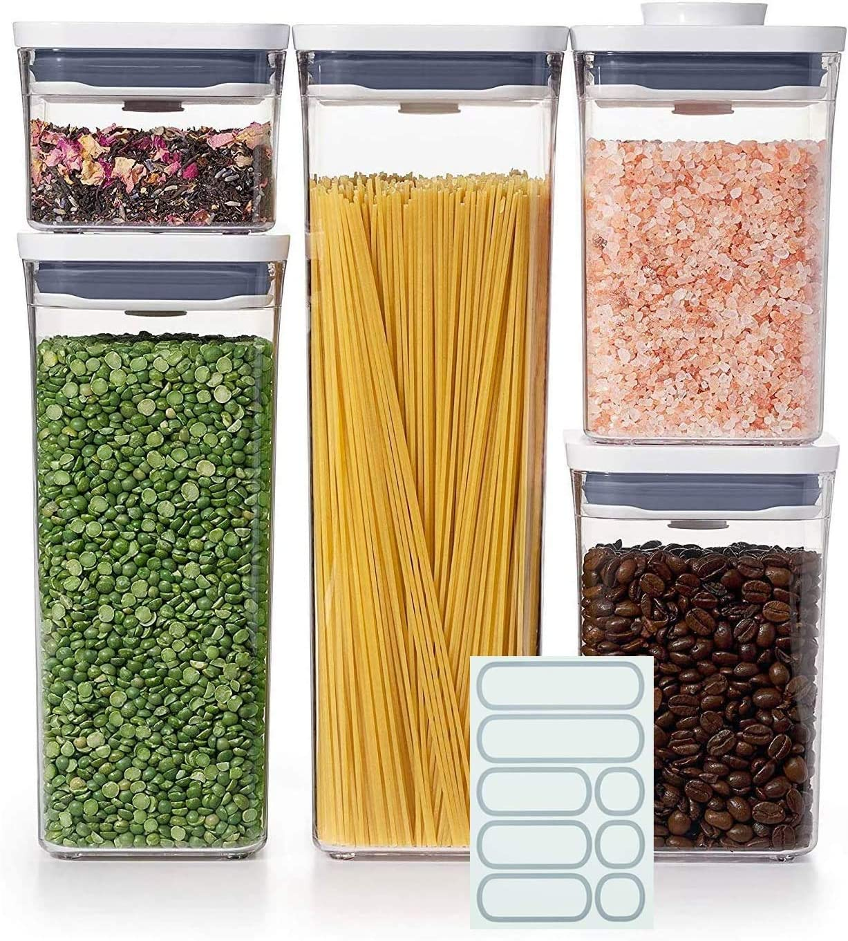 OXO Good Grips 5-Piece POP Container Set with 5 Labels