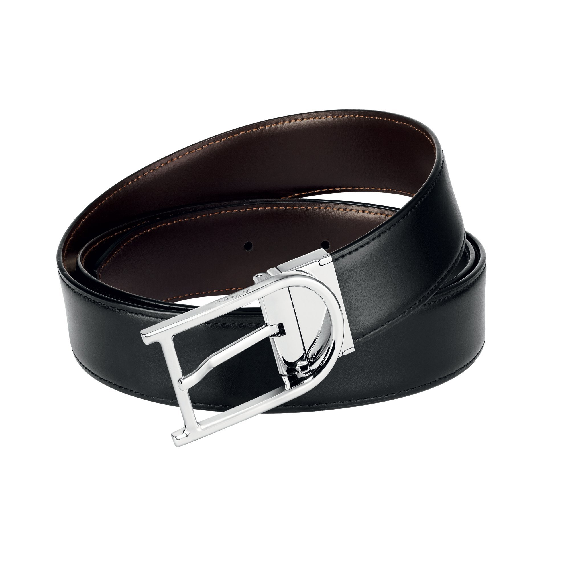 S.T. Dupont 9470120 Palladium Auto-Reversible Buckle Business Belt