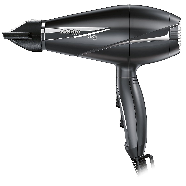 BaByliss Le Pro Light Volume - Secador de pelo profesional con difusor, motor AC, 2100 W, con generador de iones, más ligero y ergonómico, 6 velocidades / temperaturas, color negro 6610DE BOQUILLA ESTRECHA CONCENTRADOR FINO SECADOR POTENTE