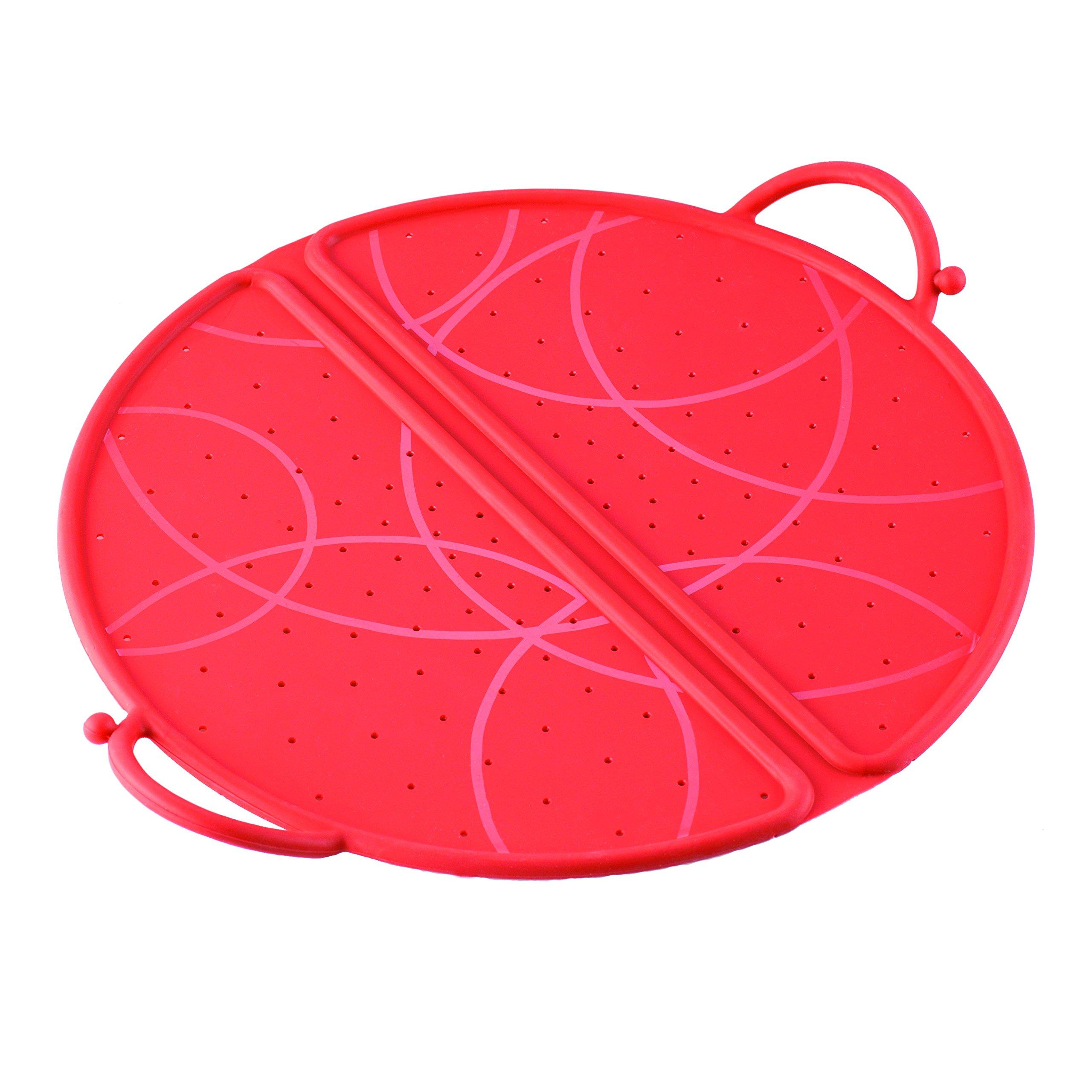 Kuhn Rikon Foldable Splatter Guard, 10-Inch, Red by Kuhn Rikon