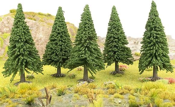 5 x Modell Baum 7cm Kiefer für Landschaft  Modellbau Modelleisenbahn