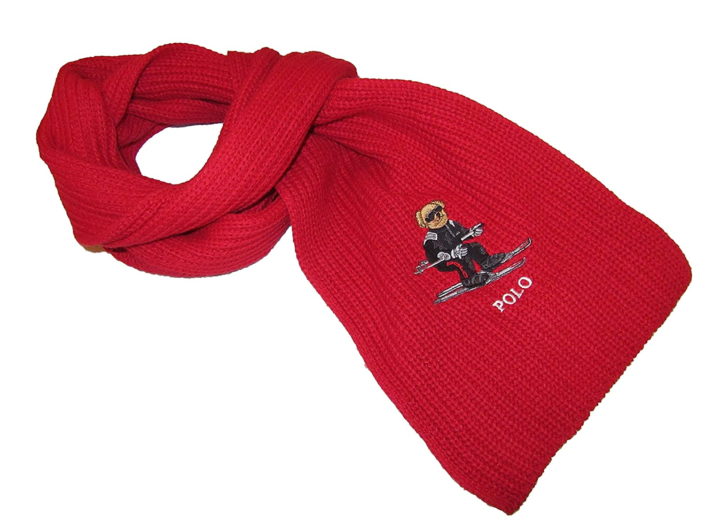 Polo Ralph Lauren Mens Polo Bear Cotton Blend Scarf