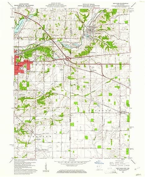 New Paris Ohio Map.Amazon Com Yellowmaps New Paris Oh Topo Map 1 24000 Scale 7 5 X