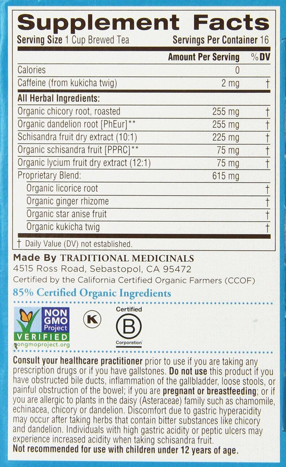 Traditional Medicinals Everyday Detox Herbal Wrapped Tea Bags - 16 ct - 2 pk by Traditional Medicinals