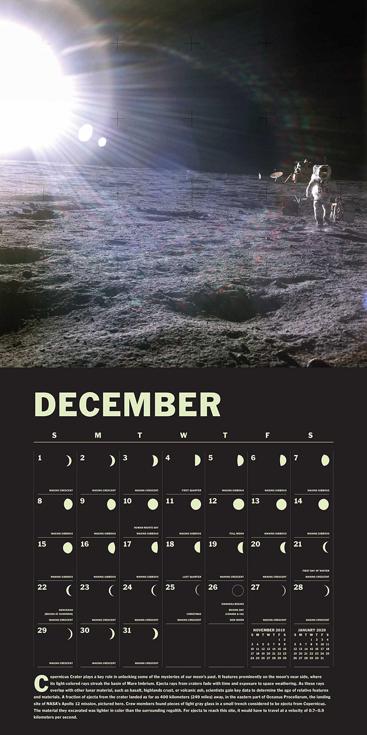 Lunar 2019 Wall Calendar: A Glow-in-the-Dark Calendar for the Lunar