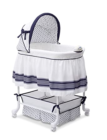 20db34daa1bf Amazon.com   Delta Children Smooth Glide Bassinet
