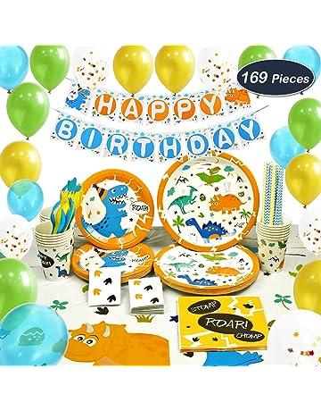 WERNNSAI Suministros de Fiesta de Dinosaurio Set - Decoracion de Fiesta para Chico Niños Cumpleaños Servilletas