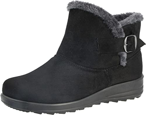 TRAINERS UK STOCK* WOMENS-LADIES FAUX FUR SUEDE WINTER SNOW WARM ANKLE BOOTS