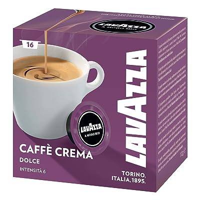 Lavazza–Cafe Dolcemente sélection 100% Arabica, grillage moyen, cremoso, pack 16capsules nespresso