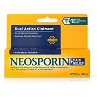 Neosporin Plus Pain Relief, Maximum Strength Antibiotic Ointment 1 oz (Pack of 4)