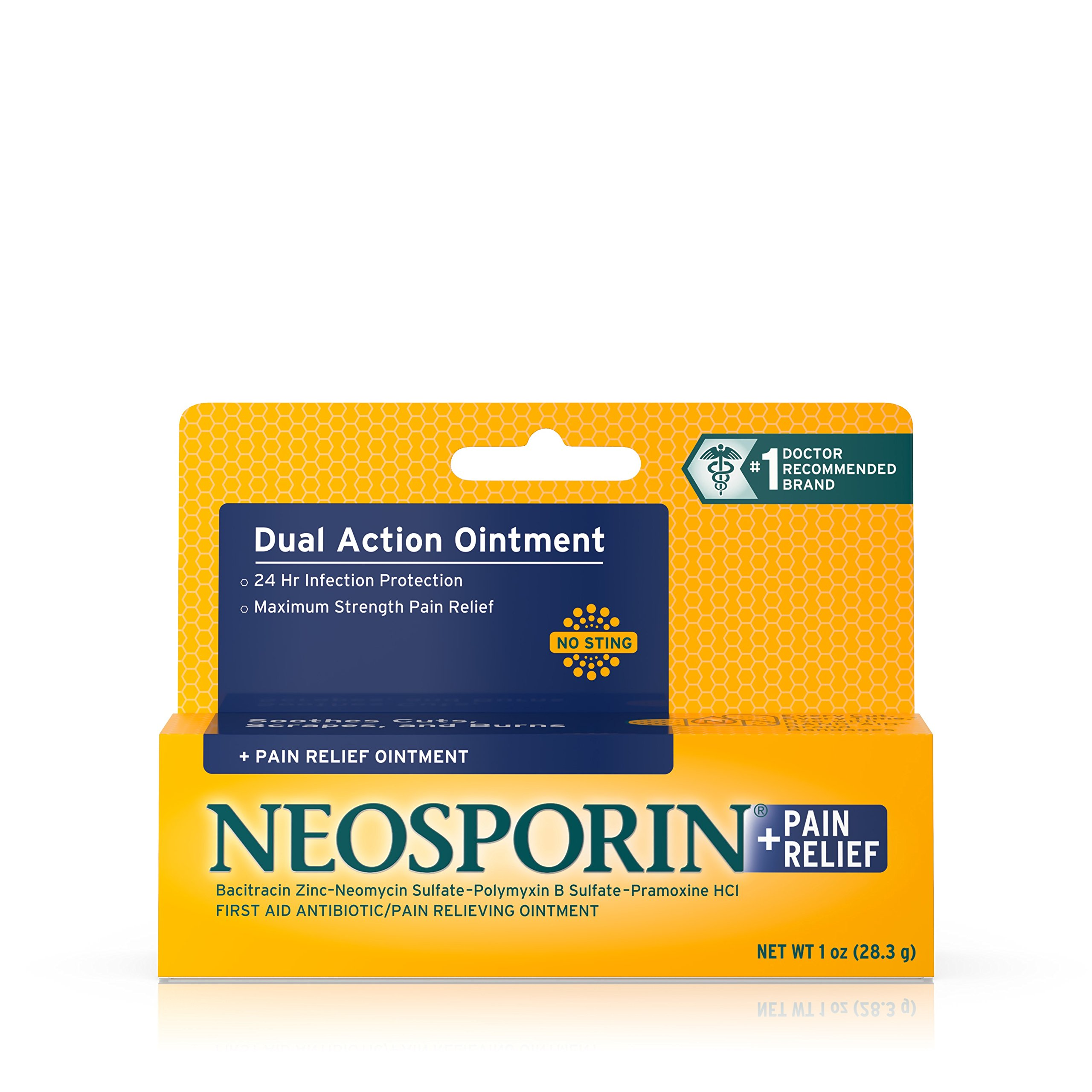 Neosporin Plus Pain Relief, Maximum Strength Antibiotic Ointment 1 oz (Pack of 4) by Neosporin