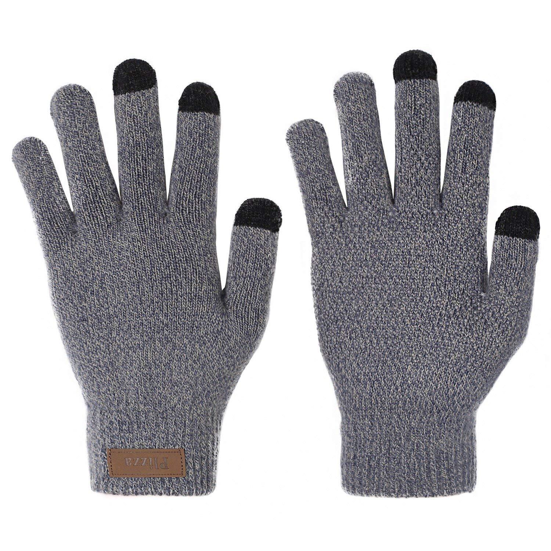 Winter Touchscreen Knit Gloves Thick Fleece Lined Mittens for Phone Women Men