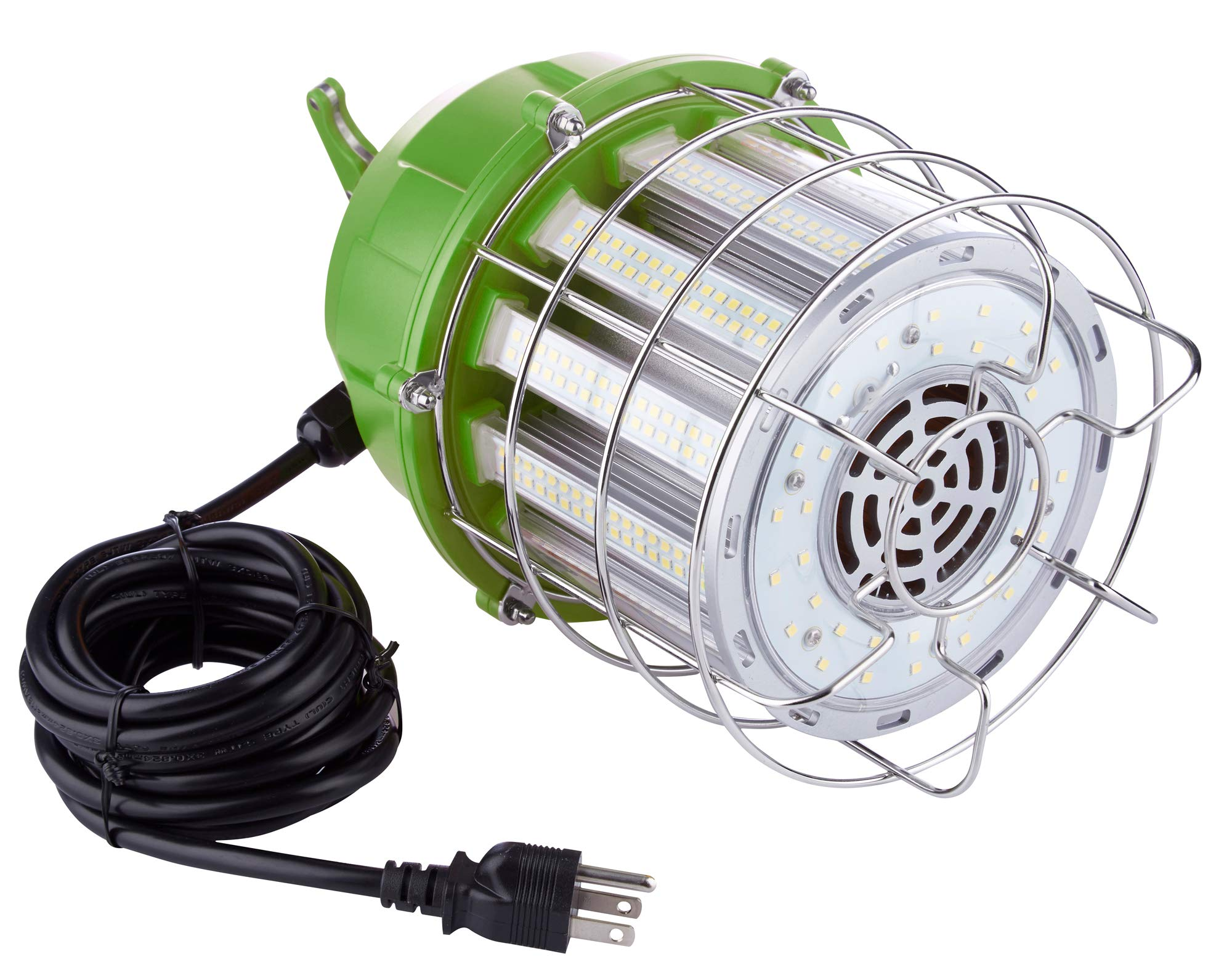 PowerSmith PTLK52-100 New 12,000 Lumen High Bay Temporary LED Daisy Chain Hanging Work Light with Metal Clasp and 10 ft Power Cord Medium Green by POWERSMITH (Image #3)