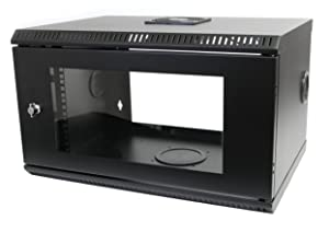 Wall Mount Server Rack Cabinet - 6U - 19in - Acrylic Door - Server Cabinet - Wall Mount Network Rack - Network Cabinet