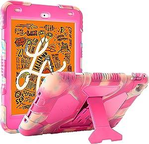 ACEGUARDER iPad Mini 5 Case 2019 iPad Mini Full Body Protective Premium Soft Silicone Cover with Adjustable Kickstand (Candy)