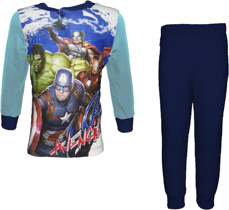 MV11-214 Pigiama Bimbo Manica Lunga Puro Cotone Avengers Marvel Art