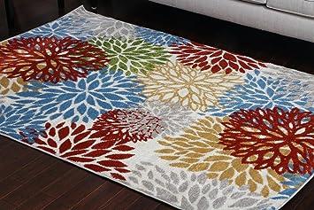 Amazon Com Paris Collection Oriental Carpet Area Rug Blue Cream