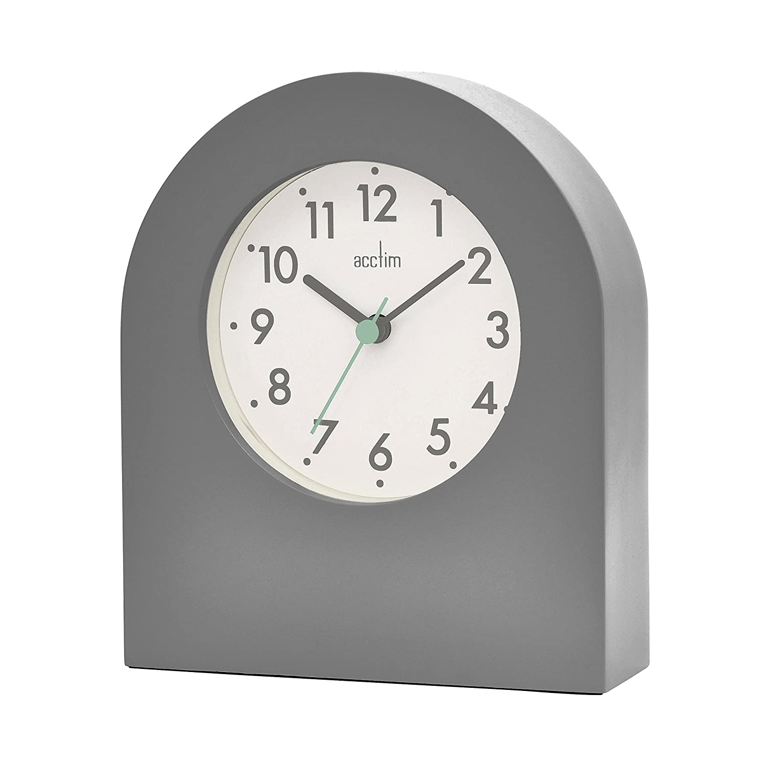 New Acctim 33742 Brondby Arch Table Clock in White