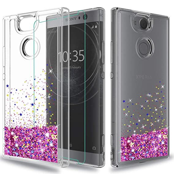 brand new 531b8 82a19 Sony Xperia XA2 Case(NOT FIT:SONY XPERIA XA2 ULTRA) with HD Screen  Protector,Wtiaw [Quicksand Series]Flowing Liquid Floating Ultra Thin Shock  ...
