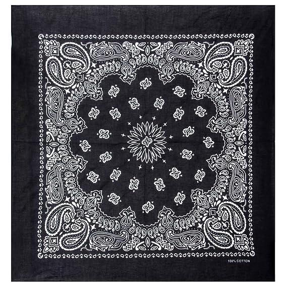 2c482b3f299f Amazon.com  BMC 12pc Paisley Pattern Cotton Fabric Extra Large 21 Inch  Square Bandannas  Clothing