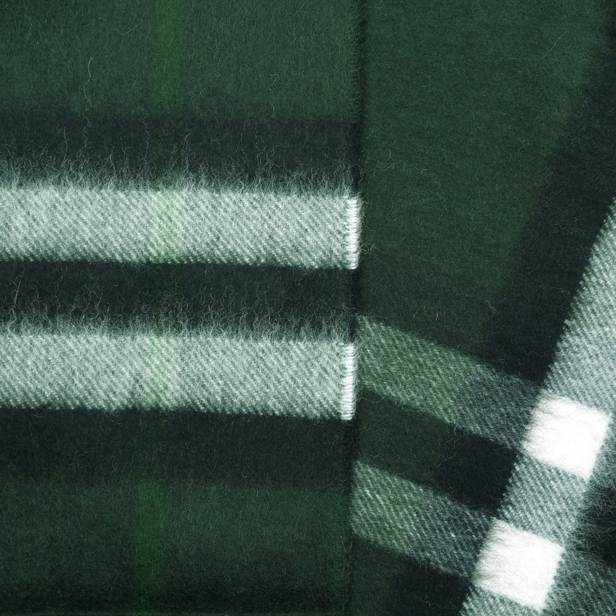 Burberry Women's Classic Check Cashmere Scarf (One Size, Dark Forest Green) by BURBERRY (Image #3)