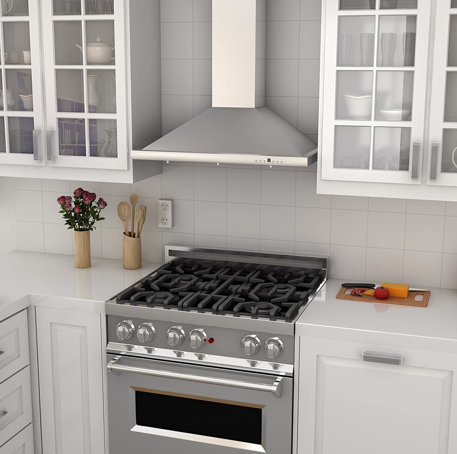 Z Line Kb 36 Stainless Steel Wall Mount Range Hood Wiring Oven And Cooktop Inch Appliances