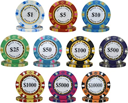 NEW 700 Piece Monte Carlo 14 Gram Clay Poker Chips Bulk Lot Pick Your Chips