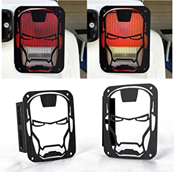 2X For Jeep Wrangler JK 07-18 Strong Steel Tail Light Rear Lamp Cover Guards