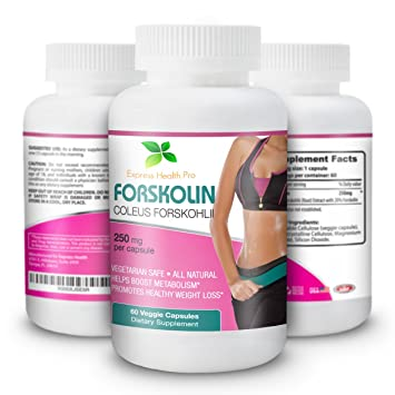 Express Health Pro Pure Forskolin 250MG Weight Loss & Appetite Control Supplement: Coleus Forskohii Extract