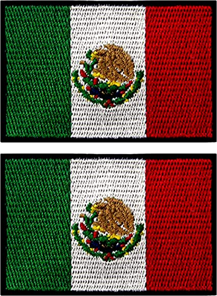 Iron on patches  Flag Embroidered Patch Mexican Iron On Sew On National Emblem