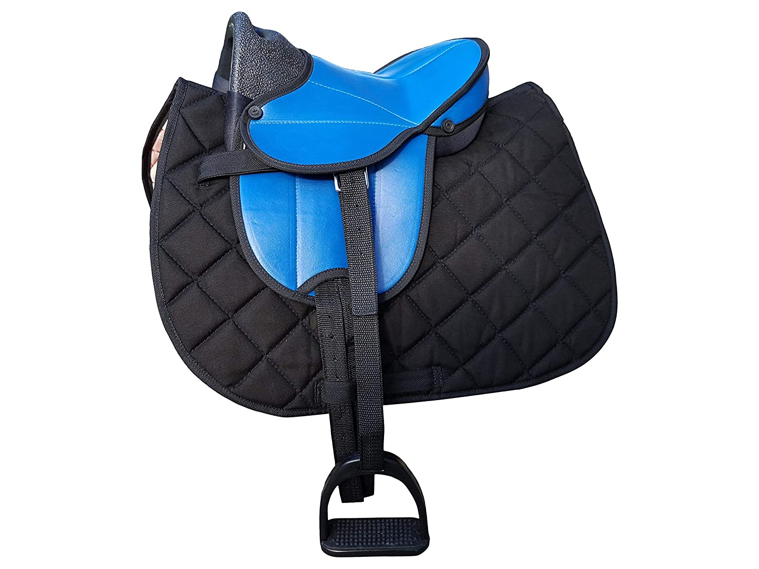 blueer Sattel + blacke Schabracke Markgraf Set German Riding Shetty Saddle My Little Pony with Accessories and Haas Mane Comb