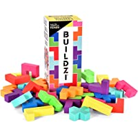 BUILDZI by TENZI - The Fast Stacking Building Block Game for The Whole Family - 2 to 4 Players Ages 6 to 96 - Plus Fun…