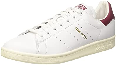 adidas Unisex Shoes Low Sneakers CQ2195 Stan Smith Size 42 2-3 Bianco/ Bordeaux