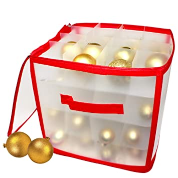 Aufbewahrungsbox Weihnachtskugeln.Weihnachtskugeln Aufbewahrungsbox Kugelkiste Kugelschachtel Weihnachten Christbaumkugel Box Idealer Stilvoller Festtagsbehälter Für