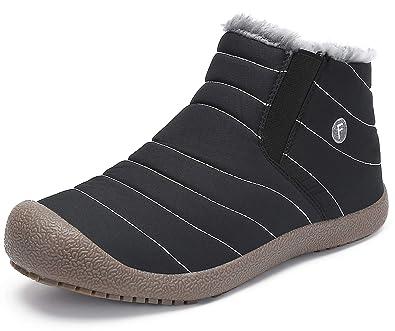 4661efd8c883e9 katliu Damen Herren Winterschuhe Warm Gefüttert Winterstiefel Rutschfest Winter  Boots Outdoor Leicht Schnee Schuhe für Frauen