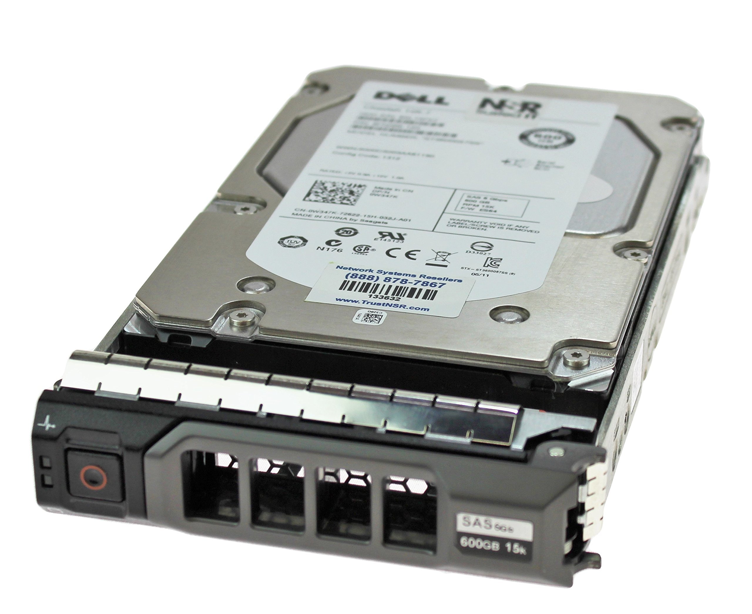 Dell W347K 600GB 15K 16MB 6.0GBps 3.5'' Enterprise Class SAS Hard Drive in Poweredge R Series Tray by DELL