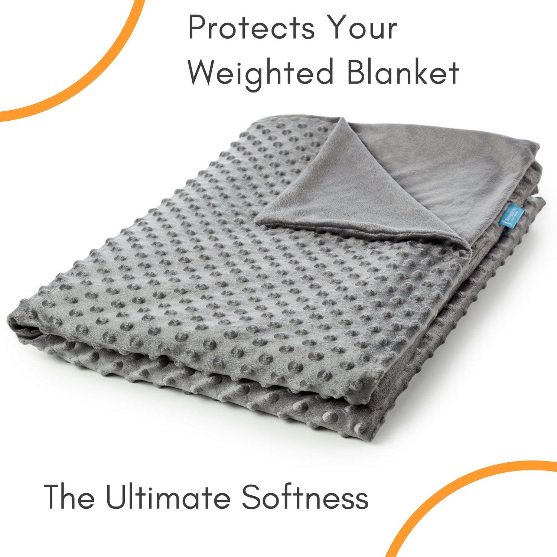 Snuggle Pro Luxury Minky Dot Duvet Cover for Weighted Blanket - 48''x72'' Twin Size/Full Bed Velvet Plush Weighted Blanket Cover by Snuggle Pro (Image #1)