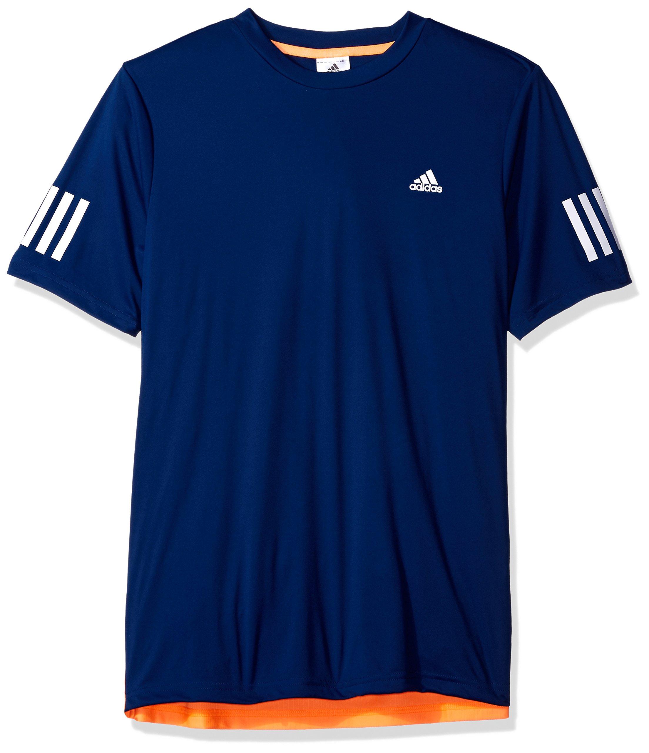 adidas Boys Tennis Club Tee, Mystery Blue/Samba Blue, X-Large