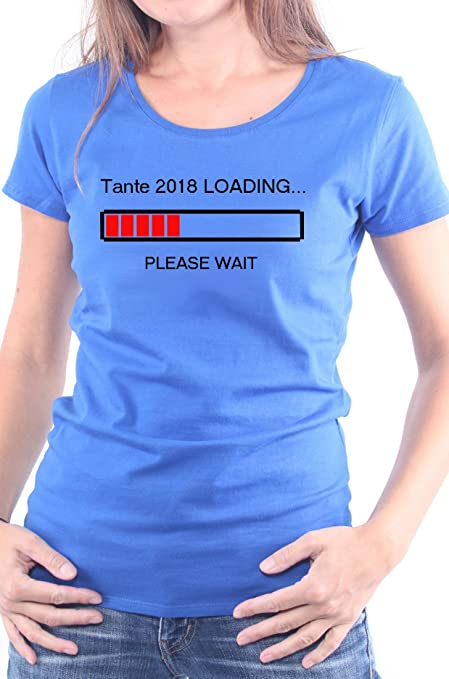 Mister Merchandise Ladies Damen Frauen T-Shirt Tante 2018 Loading Tee  Mädchen Bedruckt: Amazon.de: Bekleidung