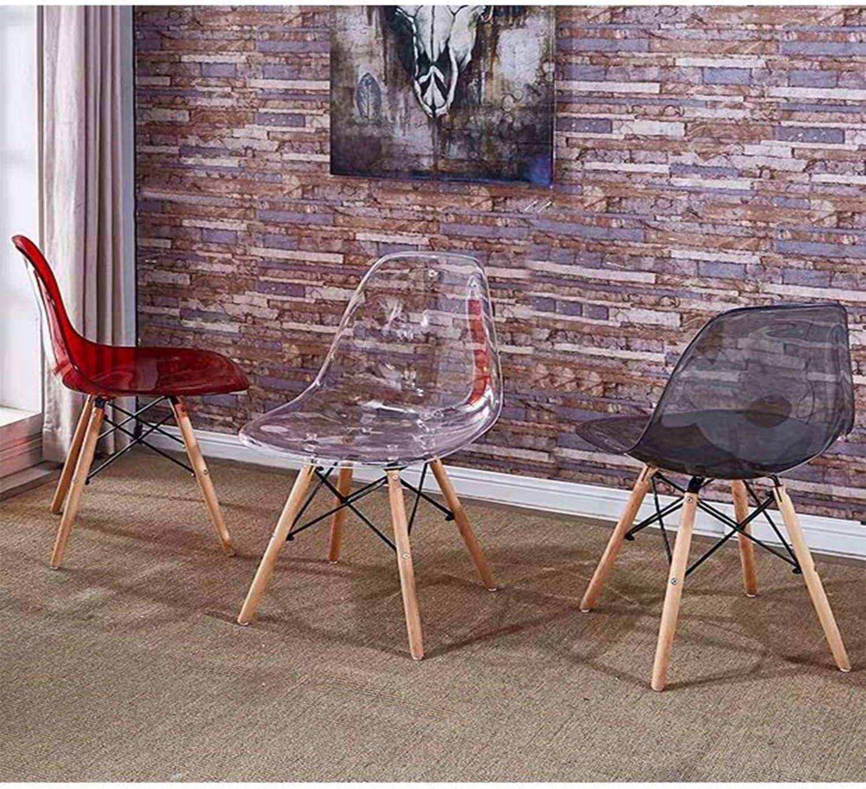 Lotto di 4 Scandinavian Transparent Chair Chair Dining Chair Sedia in policarbonato Sedia Trasparente Semplice e conveniente Bianco