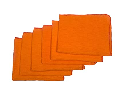 HomeStrap Dust Buster Duster Cloth - Orange- Pack of 12-Dummy