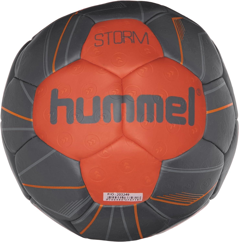 hummel Balonmano para Entrenamiento Profesional Deportes &–Tamaño 2o 3–Storm HB–Resina Ball Azul & Rojo–Balón de Entrenamiento con Air de Trap de vá