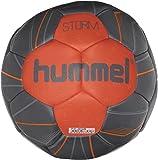 Hummel Handball für Profi Sport & Training - Größe 2 oder 3 - STORM HB - Harz Trainingsball Blau & Rot - Ball mit Air-Trap-Ventil