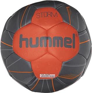 hummel Ballon de Handball pour Sport Professionnel & Training–Taille 2ou 3–Storm HB–Résine Bleu & Rouge–Ball avec Valve Air de Trap