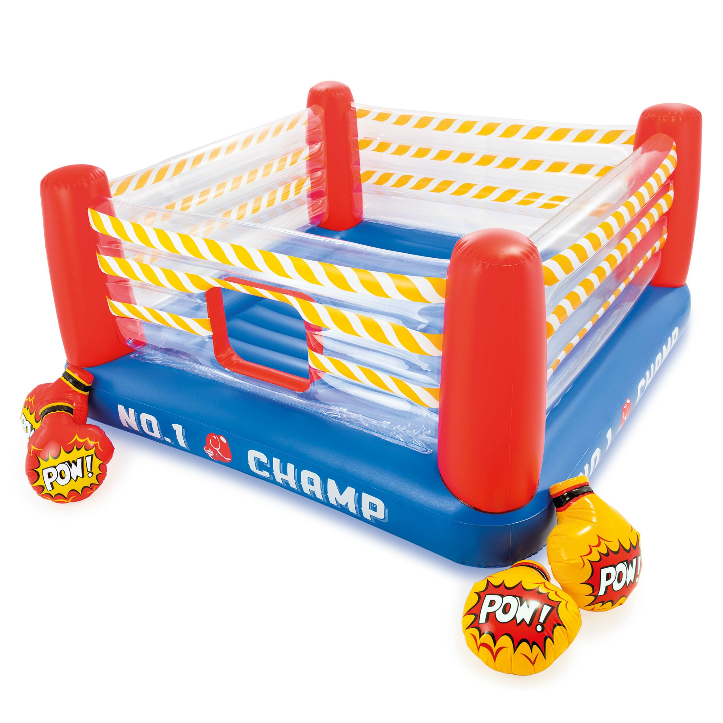 Intex Jump-O-Lene Boxing Ring Inflatable Bouncer, 89'' X 89'' X 43.5'', for Ages 5-7