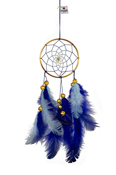 Rooh Dream Catcher Blue & Brass Wall Decor & Hanging