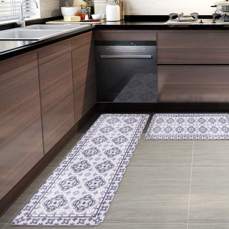 Pauwer Anti Fatigue Kitchen Rug Sets 9 Piece Non Slip Kitchen ...