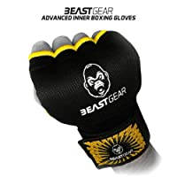 Beast Gear Advanced Inner Boxing Gloves - Superior Quality Gel Mitts for Combat Sports, MMA and Martial Arts